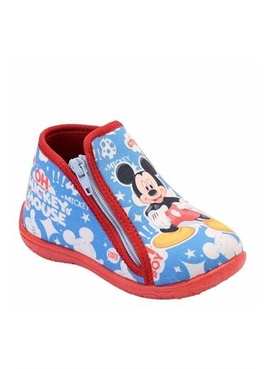 Gigi Mickey Mouse Erkek Çocuk Fermuarlı Panduf 90113 Mavi